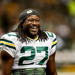 Oct 26, 2014; New Orleans, LA, USA; Green Bay Packers running back Eddie Lacy (27) before a game against the New Orleans Saints at the Mercedes-Benz Superdome. Mandatory Credit: Derick E. Hingle-USA TODAY Sports