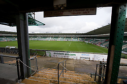 © under license to London News Pictures.  22/02/2011 A view of Home Park stadium in Plymouth. Plymouth Argyle have been deducted 10 points by the Football League after issuing a notice of intention to appoint an administrator. Picture credit should read: David Hedges/LNP