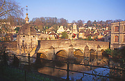 A1X1H4 Bradford on Avon bridge Wiltshire England