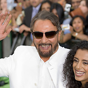 SHEFFIELD, UNITED KINGDOM - 9th June 2007: Bolliwood actor Kabir Bedi and girlfriend at International Indian Film Academy Awards (IIFAs) at the Sheffield Hallam Arena on June 9, 2007 in Sheffield, England.
