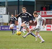 Dundee&rsquo;s Greg Stewart and Inverness&rsquo; Carl Tremarco - Dundee v Inverness Caledonian Thistle - Ladbrokes Scottish Premiership at Dens Park<br /> <br />  - &copy; David Young - www.davidyoungphoto.co.uk - email: davidyoungphoto@gmail.com
