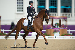 Wells Sophie (GBR) - Pinocchio<br /> Team Test - Grade IV - Dressage <br /> London 2012 Paralympic Games<br /> © Hippo Foto - Jon Stroud