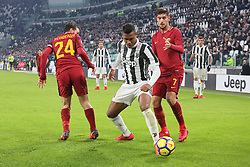 December 23, 2017 - Turin, Piedmont, Italy - Alex Sandro  (Juventus FC, center) in action during the Series A football match between Juventus FC and AS Roma at Allianz Stadium on 23 December, 2017 in Turin, Italy. .Juventus won 1-0 over Roma. (Credit Image: © Massimiliano Ferraro/NurPhoto via ZUMA Press)
