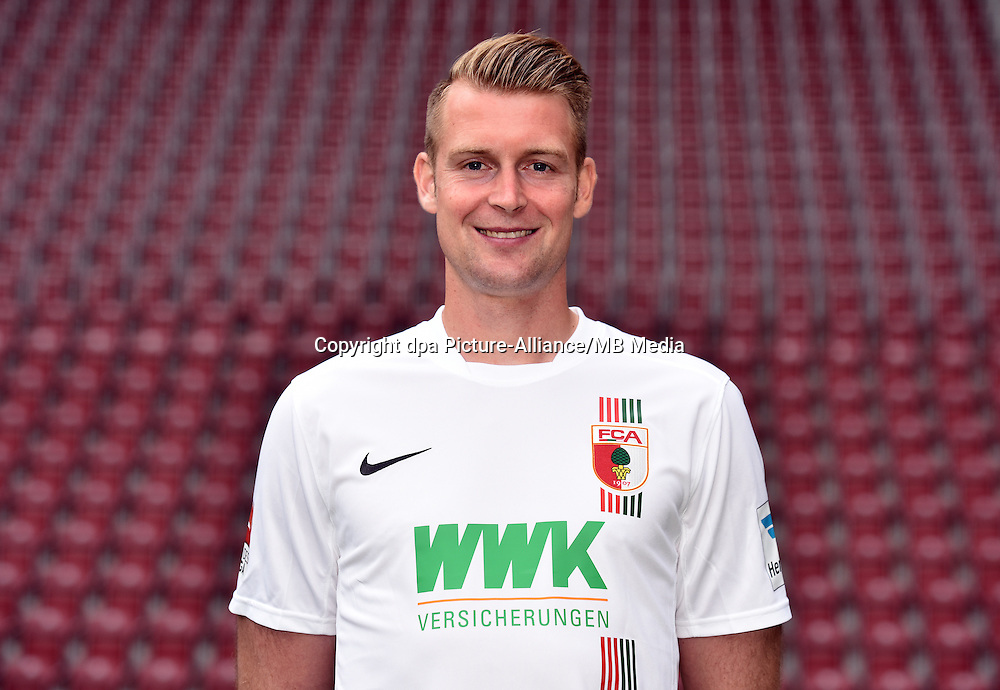 German Soccer Bundesliga 2015/16 - Photocall of FC Augsburg on 08 July 2015 in Augsburg, Germany: Jan-Ingwer Callsen-Bracker