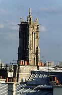 France. Paris. elevated view. saint jaques  tower