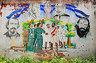 Revolutionary wall in San Cristobal, Artemisa, Cuba.