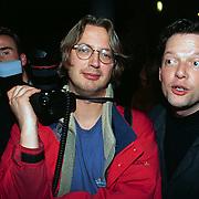 CD uitreiking Rob de Nijs Gouda, Panorama fotograaf Piet Roorda en journalist Guido den Aantrekker