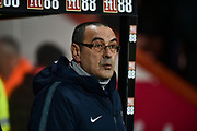 Chelsea Manager, Maurizio Sarri during the Premier League match between Bournemouth and Chelsea at the Vitality Stadium, Bournemouth, England on 30 January 2019.