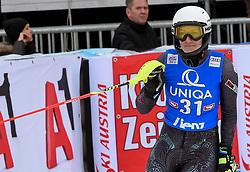 28.12.2017, Hochstein, Lienz, AUT, FIS Weltcup Ski Alpin, Lienz, Slalom, Damen, 2. Lauf, im Bild Nevena Ignjatovic (SRB) // Nevena Ignjatovic of Serbia reacts after her 2nd run of ladie's Slalom of FIS ski alpine world cup at the Hochstein in Lienz, Austria on 2017/12/28. EXPA Pictures © 2017, PhotoCredit: EXPA/ Erich Spiess