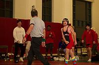 St Paul's School varsity wrestling with Thayer and Nobles.  ©2018 Karen Bobotas Photographer