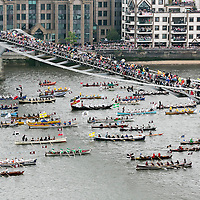 &copy; Licensed to London News Pictures. 03/06/2012. <br /> London, UK. <br /> Boats and Sailing craft of all sizes join the Queen and HRH Duke of Edinburgh in the Royal Flotilla as part of the Diamond Jubilee Weekend<br />  <br /> Photo credit : Andrew Baker/LNP