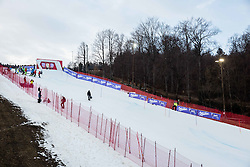 The course prior to the 1st Run of the 8th Ladies' Slalom at 52nd Golden Fox - Maribor of Audi FIS Ski World Cup 2015/16 before the race was cancelled due to soft snow and safety issues, on January 31, 2016 in Pohorje, Maribor, Slovenia. Photo by Vid Ponikvar / Sportida