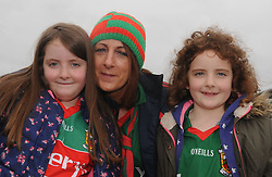 Grace, Sarah and Patricia Dempsey from Knockmore at McHale park for the Mayo v Kerry national football league encounter. Pic Conor McKeown