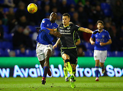 Billy Bodin of Bristol Rovers takes on Ousmane Fane of Oldham Athletic - Mandatory by-line: Robbie Stephenson/JMP - 30/12/2017 - FOOTBALL - Sportsdirect.com Park - Oldham, England - Oldham Athletic v Bristol Rovers - Sky Bet League One