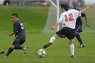 Middletown, NY - SUNY Orange plays Manhattan Community College in a men's soccer game on Oct. 1, 2008.