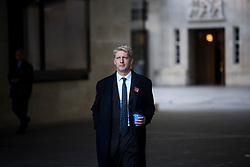 "© Licensed to London News Pictures. 10/11/2018. London, UK. JO JOHNSON MP Is seen leaving BBC Broadcasting House in London after he resigned as transport minister yesterday. Mr Johnson, brother of former foreign secretary Boris Johnson, resigned his ministerial post saying it's ""imperative we go back to the people and check"" they still want to leave. Photo credit: Ben Cawthra/LNP"