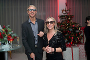 JUDY BROOKS; IAN WAITE WATCHING BALLET ON SKY TELEVISION USING 3 D GLASSES, , English National Ballet launches its Christmas season with a partyu before s performance of The Nutcracker at the Coliseum.  St. Martin's Lane Hotel.  London. 16 December 2009 *** Local Caption *** -DO NOT ARCHIVE-&copy; Copyright Photograph by Dafydd Jones. 248 Clapham Rd. London SW9 0PZ. Tel 0207 820 0771. www.dafjones.com.<br /> JUDY BROOKS; IAN WAITE WATCHING BALLET ON SKY TELEVISION USING 3 D GLASSES, , English National Ballet launches its Christmas season with a partyu before s performance of The Nutcracker at the Coliseum.  St. Martin's Lane Hotel.  London. 16 December 2009