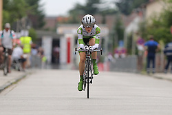 26.06.2015, Einhausen, GER, Deutsche Strassen Meisterschaften, im Bild Sonja Ambuehl (RFC Freilauf Rossbach) // during the German Road Championships at Einhausen, Germany on 2015/06/26. EXPA Pictures © 2015, PhotoCredit: EXPA/ Eibner-Pressefoto/ Bermel<br /> <br /> *****ATTENTION - OUT of GER*****