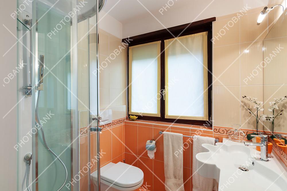 Bathroom of a modern apartment, closeup shower