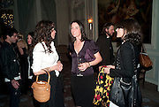 MARIE HELVIN; MARY MCCARTNEY; BELLA FREUD, Dinner to mark 50 years with Vogue for David Bailey, hosted by Alexandra Shulman. Claridge's. London. 11 May 2010 *** Local Caption *** -DO NOT ARCHIVE-© Copyright Photograph by Dafydd Jones. 248 Clapham Rd. London SW9 0PZ. Tel 0207 820 0771. www.dafjones.com.<br /> MARIE HELVIN; MARY MCCARTNEY; BELLA FREUD, Dinner to mark 50 years with Vogue for David Bailey, hosted by Alexandra Shulman. Claridge's. London. 11 May 2010
