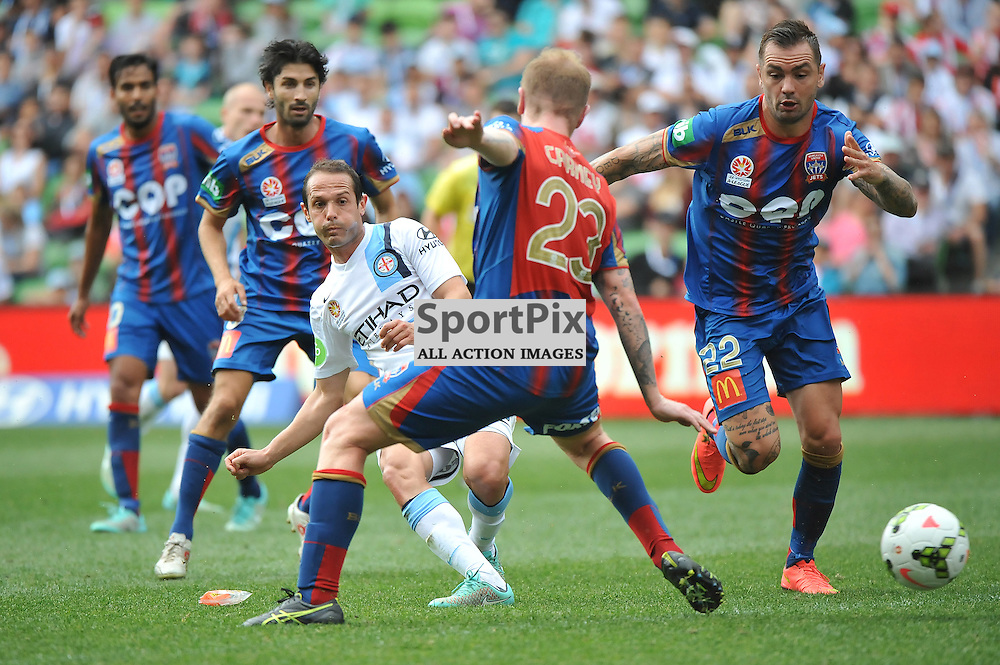 Massimo Murdocca (Melbourne City) during the Hyundai A- League, round 2 match, between Melbourne City &amp; the Newcastle Jets held at Aami Park Stadium, Melbourne, Victoria on the 19th October 2014.<br /> WAYNE NEAL | SportPix.org.uk