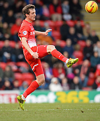 Orient's David Mooney  - Photo mandatory by-line: Mitchell Gunn/JMP - Tel: Mobile: 07966 386802 22/02/2014 - SPORT - FOOTBALL - Brisbane Road - Leyton - Leyton Orient V Swindon Town - League One