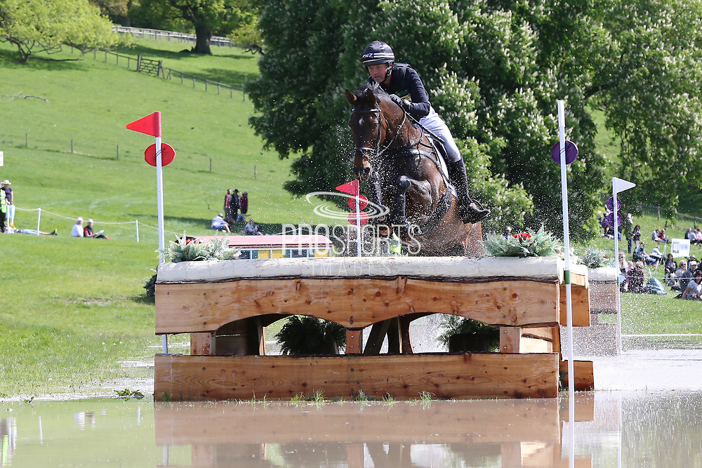 Dan Jocelyn (NZL) on Grovine De Reve during the International Horse Trials at Chatsworth, Bakewell, United Kingdom on 13 May 2018. Picture by George Franks.