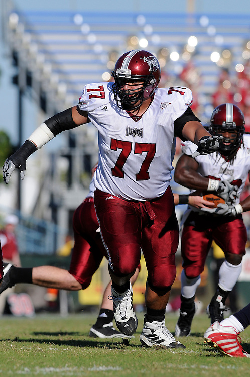 December 4, 2010: Kyle Wilborn of the Troy Trojans in action during the NCAA football game between Troy and the Florida Atlantic Owls. The Trojans defeated the Owls 44-7.