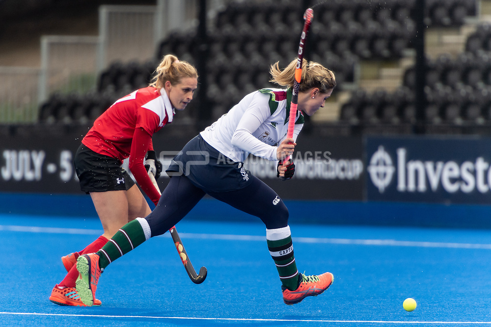 Surbiton's Georgie Twigg. Holcombe v Surbiton - Investec Women's Hockey League Final, Lee Valley Hockey & Tennis Centre, London, UK on 29 April 2018. Photo: Simon Parker