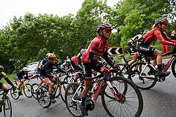 Coryn Rivera (USA) on the categorised climb at Stage 4 of 2019 OVO Women's Tour, a 158.9 km road race from Warwick to Burton Dassett, United Kingdom on June 13, 2019. Photo by Sean Robinson/velofocus.com