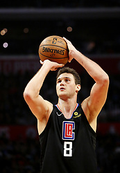 March 8, 2019 - Los Angeles, California, U.S - Los Angeles Clippers' Danilo Gallinari (8) shoots free trow during an NBA basketball game between Los Angeles Clippers and Oklahoma City Thunder Friday, March 8, 2019, in Los Angeles. (Credit Image: © Ringo Chiu/ZUMA Wire)