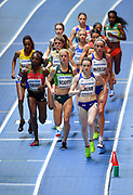 Laura Muir (GBR) plaaces third in the women's 3,000m in 8:45.78 during the IAAF World Indoor Championships at Arena Birmingham in Birmingham, United Kingdom on Thursday, Mar 1, 2018. (Steve Flynn/Image of Sport)