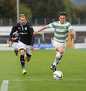 Dundee's Martin Boyle and Celtic's Aidan Mcilduff race for the ball  - Celtic v Dundee  SPFL Development League at Cappielow<br /> <br />  - &copy; David Young - www.davidyoungphoto.co.uk - email: davidyoungphoto@gmail.com