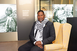 © Licensed to London News Pictures. 07/02/2019. London, UK. Zwelivelile Mandela, the grandson of Nelson Mandela attends a photocall to launch Mandea:The Exhibition takes visitors on a personal journey through the life of the world's most iconic freedom fighter and political leader. Photo credit: Ray Tang/LNP