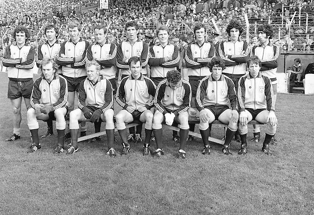 Dublin team before the All Ireland Senior Gaelic Football Final, Dublin v Armagh in Croke Park on 25th September 1977.