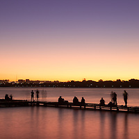 Where: Brasilia, Brazil.<br /> A great sunset on Lago Paranoia (lake Paranoia). I used an ND filter to create the movement blur.