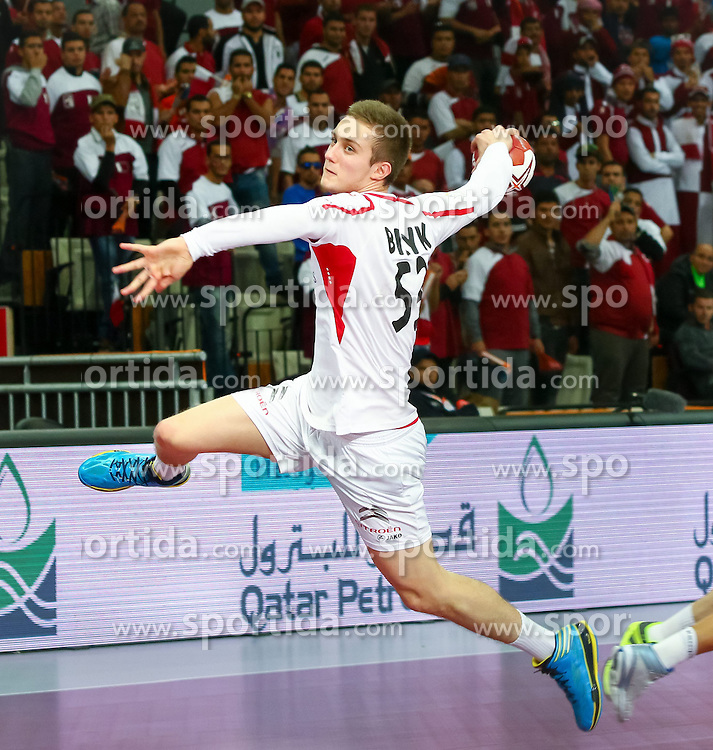 22.01.2015, Lusail Multipurpose Hall, Lusail, QAT, IHF, Handball Weltmeisterschaft der Herren, QAT, IHF WM, Herren, Österreich vs Katar, Achtelfinale, im Bild Nikola Bilyk (AUT) // during the IHF Handball World Championship round of last 16 match between Austria and Qatar at the Lusail Multipurpose Hall, Lusail, Qatar on 2015/01/22. EXPA Pictures © 2015, PhotoCredit: EXPA/ Sebastian Pucher