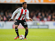 Josh Clarke of Brentford during the Sky Bet Championship match between Brentford and Bristol City at Griffin Park, London<br /> Picture by Mark D Fuller/Focus Images Ltd +44 7774 216216<br /> 01/04/2017