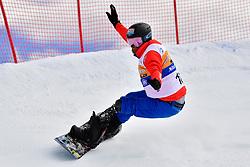 ECKHART Rene, SB-LL1, AUT, Banked Slalom at the WPSB_2019 Para Snowboard World Cup, La Molina, Spain