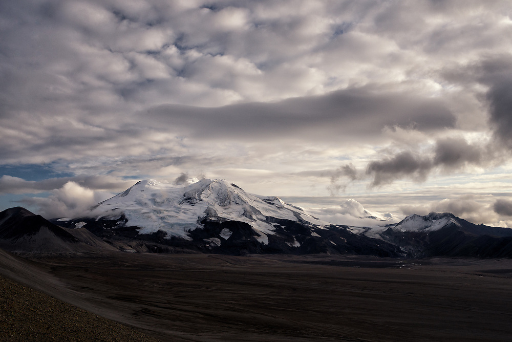 Mount Mageik, a volcano in The Valley of Ten Thousand Smokes, Alaska.