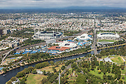 View of Australian Open Tennis Facility and Melbourne Cricket Ground from the Eureka Tower