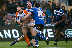 Chris Pennell of Worcester Warriors is tackled - Mandatory by-line: Robbie Stephenson/JMP - 15/02/2020 - RUGBY - Sixways Stadium - Worcester, England - Worcester Warriors v Bath Rugby - Gallagher Premiership Rugby