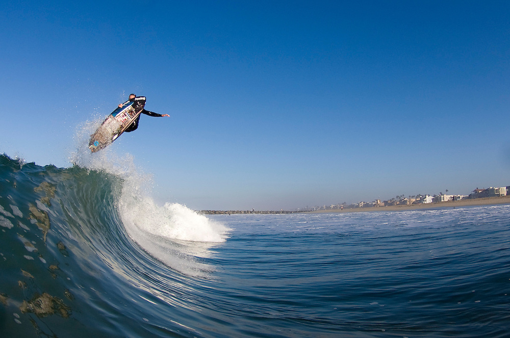 Josh Hoyer, Surfing Action, Newport Beach, 2009