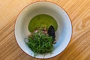 Aquavit the Restaurant. The Dish is Trout Tartar.
