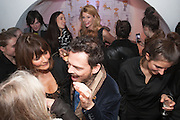 HELENA  CHRISTENSEN; MATTHEW WILLIAMSON, Maison Triumph launch to celebrate the beginning of London fashion week. Monmouth St. 14 February 2013.