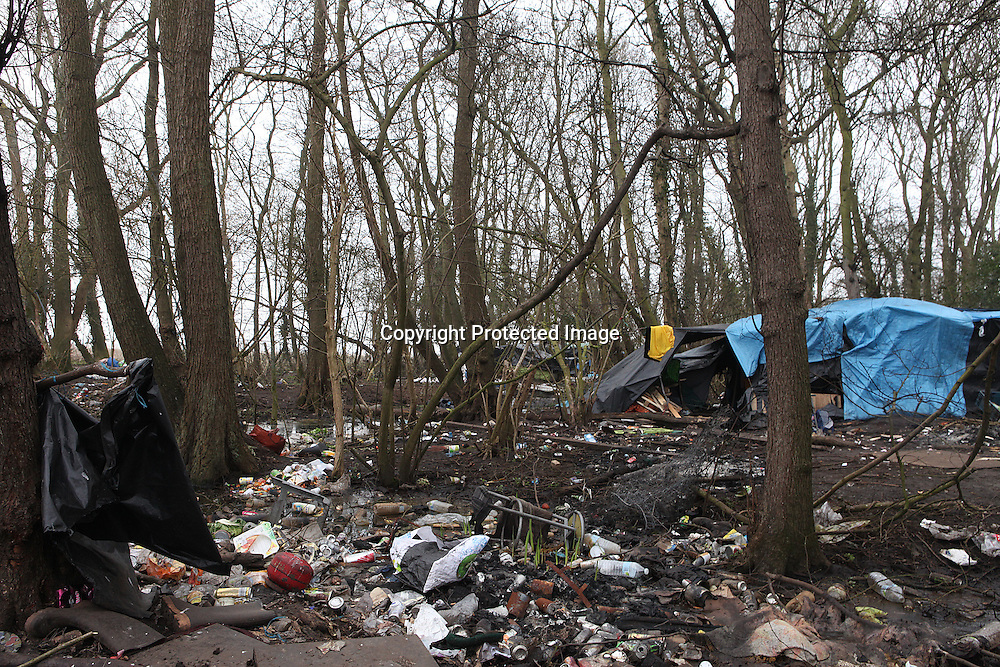 Illegal immigrant from Afghanistan living in an area called the jungle in Calais, France.