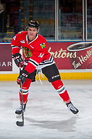 KELOWNA, CANADA - JANUARY 21: Jake Gricius #14 of the Portland Winterhawks warms up against the Kelowna Rockets on January 21, 2017 at Prospera Place in Kelowna, British Columbia, Canada.  (Photo by Marissa Baecker/Getty Images)  *** Local Caption *** Jake Gricius;