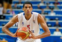 Nicolas Batum of France during basketball game between National basketball teams of France and Spain at FIBA Europe Eurobasket Lithuania 2011, on September 11, 2011, in Siemens Arena,  Vilnius, Lithuania.  (Photo by Vid Ponikvar / Sportida)