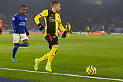 Gerard Deulofeu (7) persued by Ricardo Pereira (21) during the Premier League match between Leicester City and Watford at the King Power Stadium, Leicester, England on 4 December 2019.
