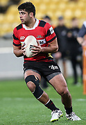 Billy Harmon of Canterbury during the Mitre 10 Cup rugby match between the Wellington Lions & Canterbury at Westpac Stadium, Wellington. Friday 23rd August 2019. Copyright Photo: Grant Down / www.Photosport.nz
